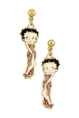Trendy Fashion Classic Character Betty Boop Earrings For Women / AZERFHB08-GML