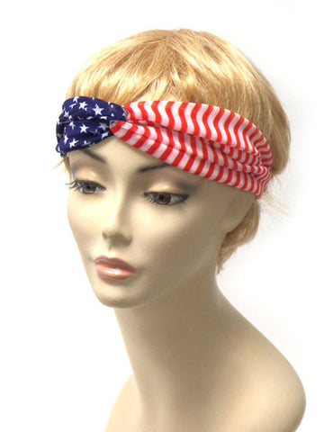 American Flag Stretch Headband