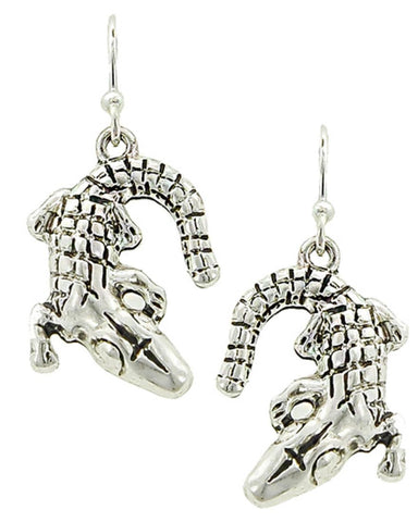 SeaLife Crocodile Animal Metal Fish Hook Earrings for Women / AZERSEA706-ASL