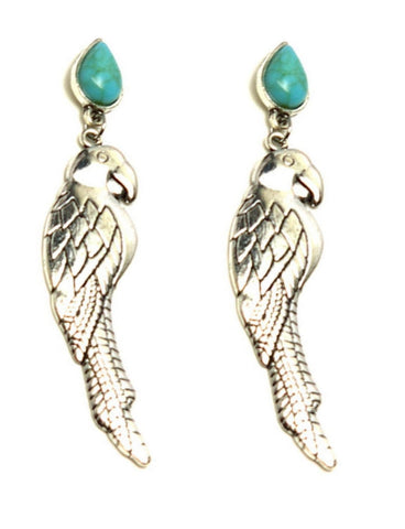 Trendy Fashion Vintage Parrot Dangle Earrings for Women / AZAEAL406-ATU