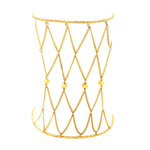 Chain Net Upper Arm Cuff Bracelet