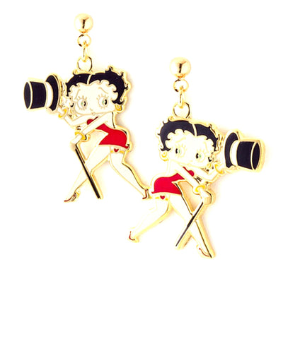 Trendy Fashion Betty Boop Earrings For Women / AZERFHB16-GML