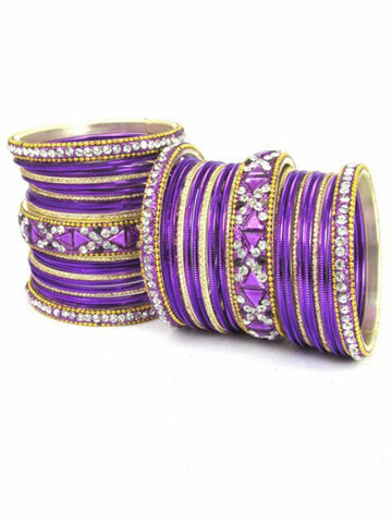 Bollywood Bridal style Indian designer metal bangle set
