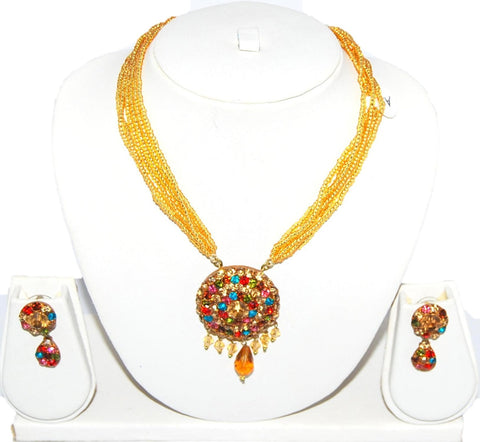 Arras Creations Authentic Designer Indian Lac/Rajasthani Style Costume Jewelry Set for Women