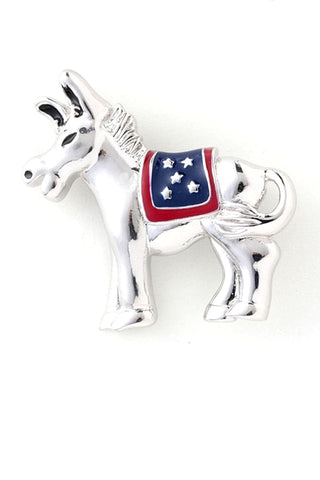 Patriotic American Flag Independence Day Political Pins - Brooch For Women / AZFJBR022-SRB-PAT