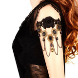 Arras Creations Fashion Vintage Gothic Handmade Black Lace Arm Band For Women/AZABLB001-AGB