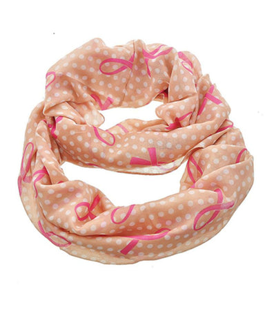 Breast Cancer Awareness : Pink Ribbon Scarf For Women / AZBCSC267-PIN