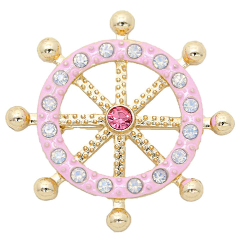 Crystal Enamel Bubble Helm Pin Brooch / AZBRSEA002-PCL