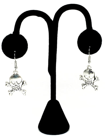 Halloween Fashion Skull Danger Dangle Earrings For Women / AZAEHA008-ASL