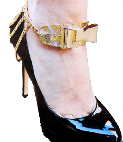 Bow Shoe Chain - Anklet