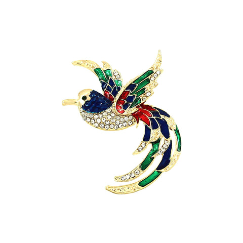 Bird Pin - Brooch/pin / AZFJBR571-GMU-PAT