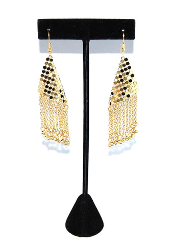 Tribal Belly Dance Mesh Earring / AZBTBT101-GLD