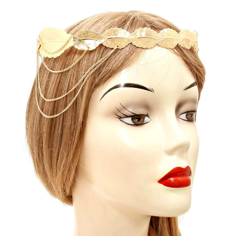 Fashion Trendy Belly Dancing, Tribal Drape Bay Tree Crown Head Chain Hair Accessory for Women