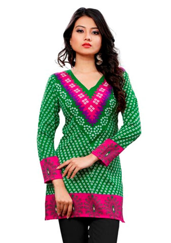 Arras Creations Indian Tunic Top Womens/Kurti Printed Blouse Tops - AZDKJD-76E