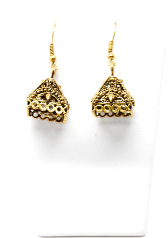 Trendy Fashion Tibetan Antique Hollow Carved Dangle Earring Set / AZERVI024-AGL