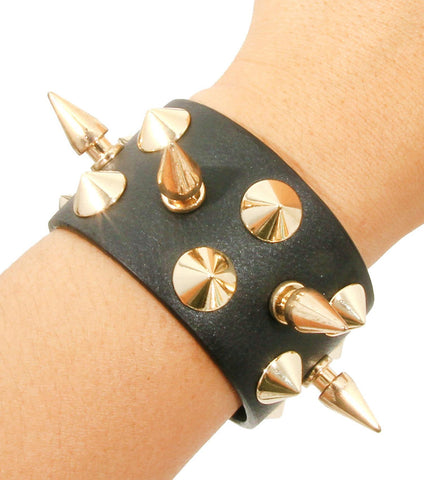 Spikes Button Bracelet / AZBRLB031-BGL