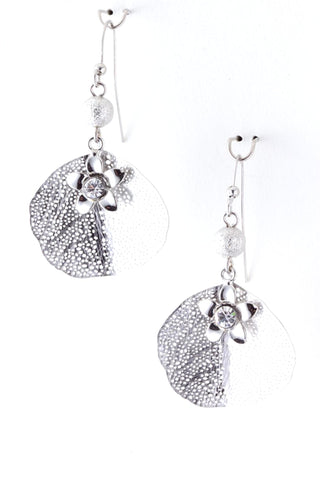 Fashion Trendy Leaf Dangle Earrings for Women / AZERFH204-SCL
