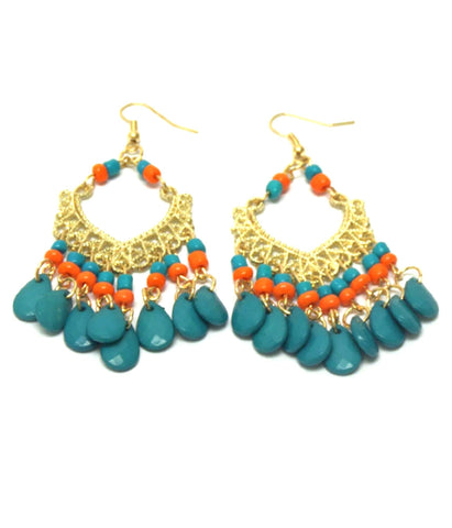 Bohemian Style Teardrop Earrings / AZERFH263-GTU