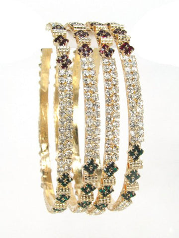 Exclusive Designer Stone Set Bangle Set