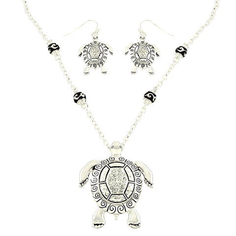 Sea Life Theme Turtle Pendant Set / AZNSSEA756-BSL