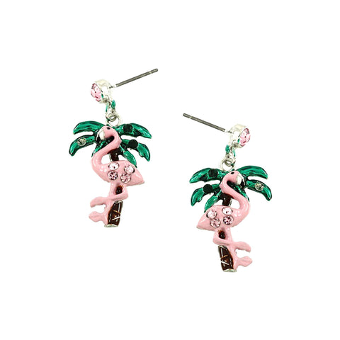 SEA LIFE Flamingo Dangle Post Earring / AZERFH701-GPI