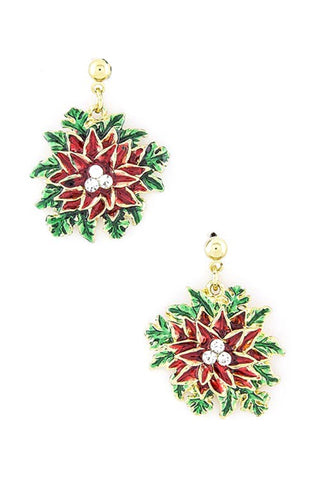 Holiday Floral Earrings / AZERFH123-GMU-CHR