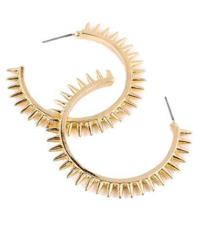 Gold Color Metal Earrings / AZERFH074-GLD