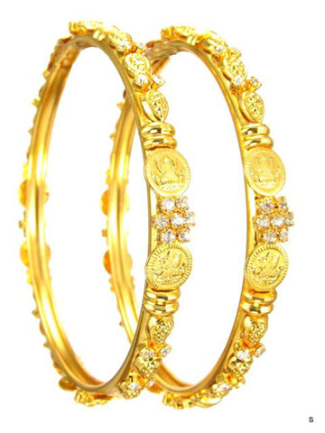 Imitation Kolhapuri Coin Gold Bangles/Bracelet/Color : Gold Tone for Women