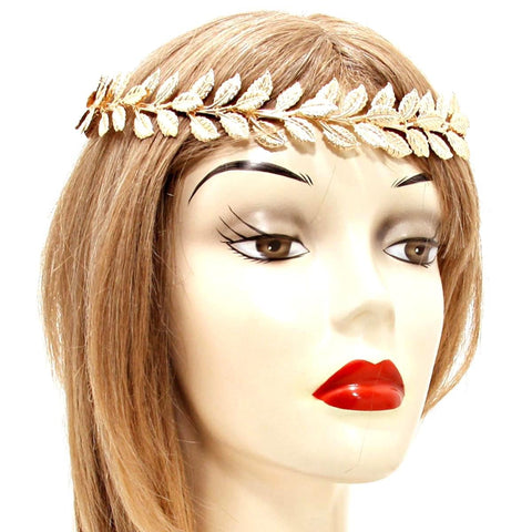 Fashion Trendy Belly Dancing, Tribal Laurel Metal Head Chain Hair Accessory for Women