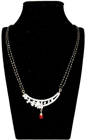 Arras Creations Designer Imitation Mangalsutra Necklace with CZ Pendant for Women / AZMNCZ321-GCR