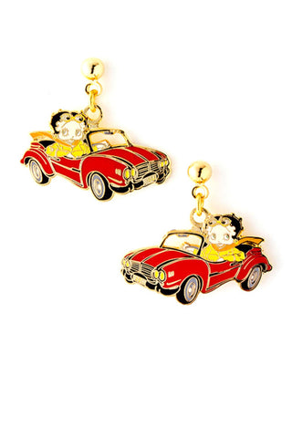 Trendy Fashion Classic Character Car Betty Boop Earrings For Women / AZERFHB06-GML
