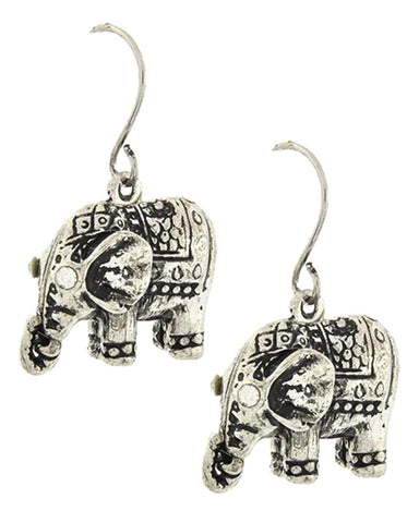 Elephant Dangle Earrings / AZERFH311-ASL
