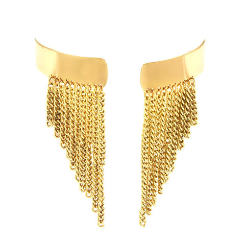 Chain Fringe Drop Upper Arm Cuff Bracelet