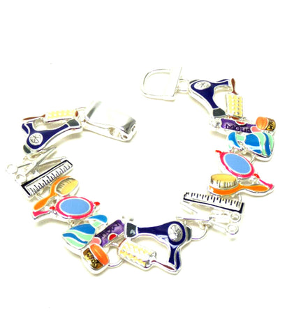MULTI EPOXY BEAUTY THEME CHARM MAGNETIC CLOSURE BRACELET / AZBRCB006-SMU