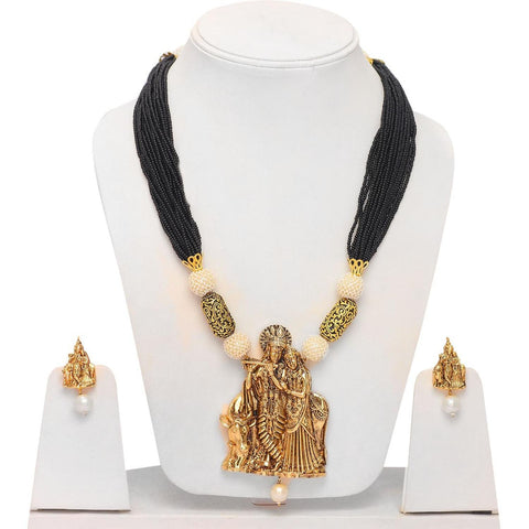 Authentic Designer Indian Lord Radhe Krishna Inspired Jewelry Set for Women
