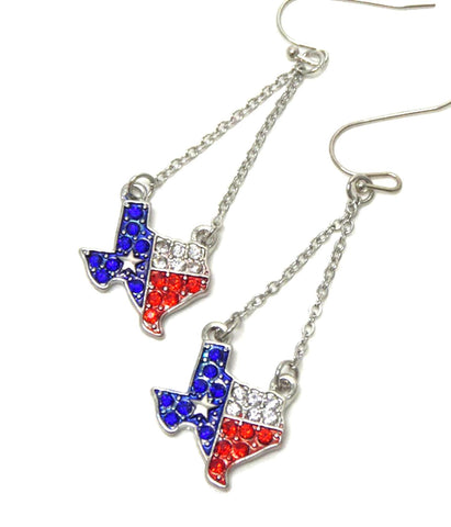 Premier Electro Plating Crystal State of Texas Earring / AZERST201-SBR-TX
