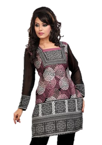 Indian Tunic Top Womens / Kurti Printed Blouse tops - AZDKJD-42C3