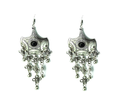 Tribal Belly Dance Coin Earring / AZBTTE007-ASB