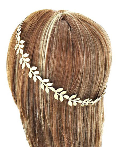 Fashion Trendy Belly Dancing, Tribal Leaf Metal Head Piece/Hair Accessory for Women