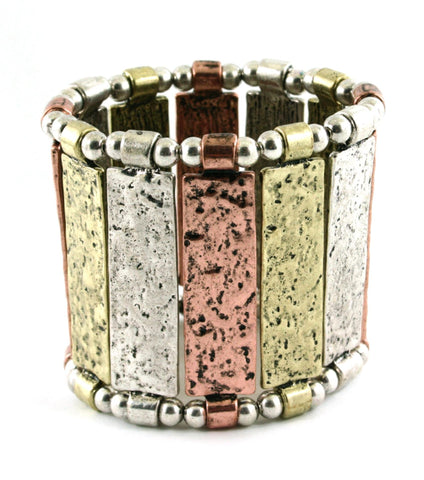 Fashion Stertch, Metal, Urban Glam, Statement, Bold, Motif For Women/ AZBRST024-MUL