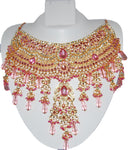 Fashion Trendy Bollywood Style Indian Imitation Necklace Set For Women. / AZBWBR002-LPK