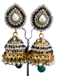 Authentic Women's Designer Bollywood style Jhumka Earring / AZERBS005-GPG