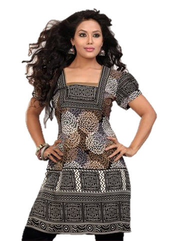 Indian Tunic Top Womens / Kurti Printed Blouse tops - AZDKJD-41