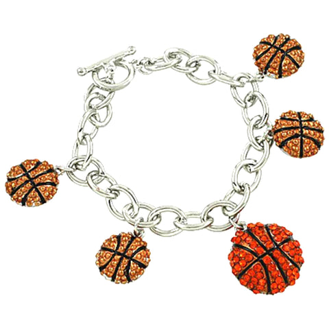 Fashion Sport Basketball : Charm Bracelet For Women / AZBRCH833-3HY