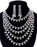 Arras Creations Trendy Fashion Five Layer Rhinestone Necklace Set For Women / AZBLRH051-SCL