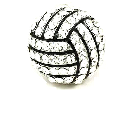 Sports Volleyball - Crystal Deco VolleyBall Stretch Ring / AZSJRI227-SBK