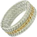 Trendy Fashionable Chain Bangle For Women / AZBRFL018-GSL