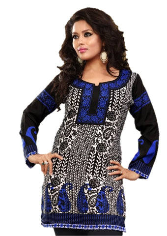 Arras Creations Indian Tunic Top Womens/Kurti Printed Blouse tops - AZDKJD-59A