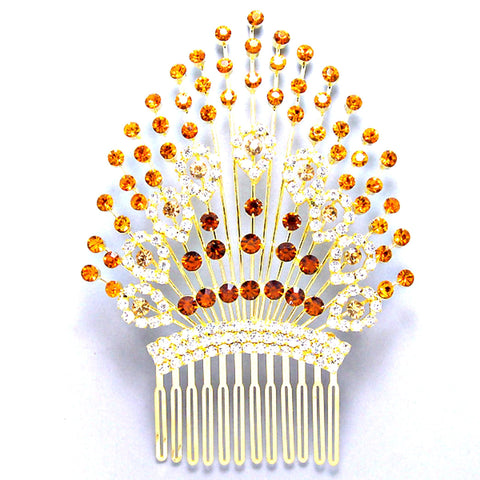 Fashion Gold Tone Rhinestone Tiara