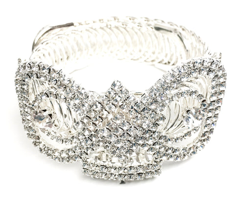 Fashion Trendy Bow Rhinestone Arm Cuff/Bracelet/Anklet for Women